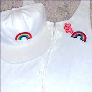 Pride Rainbow Vans Hat rare 💜